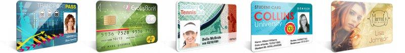 Exemples de badges et cartes personnalisées grâce aux imprimantes de cartes plastiques